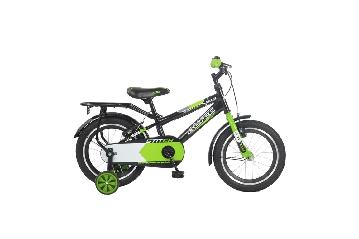 Altec Stich 16 inch jongensfiets – Zwart/groen