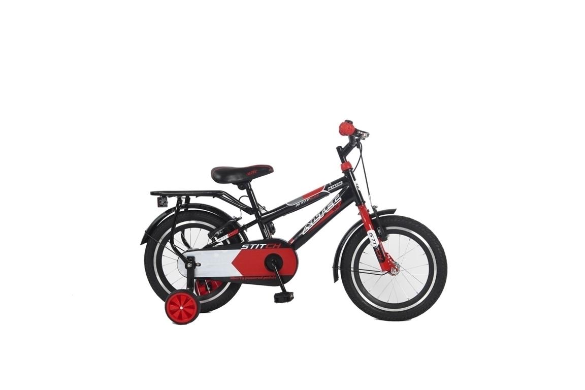 Altec Stich 16 inch jongensfiets – Zwart/rood