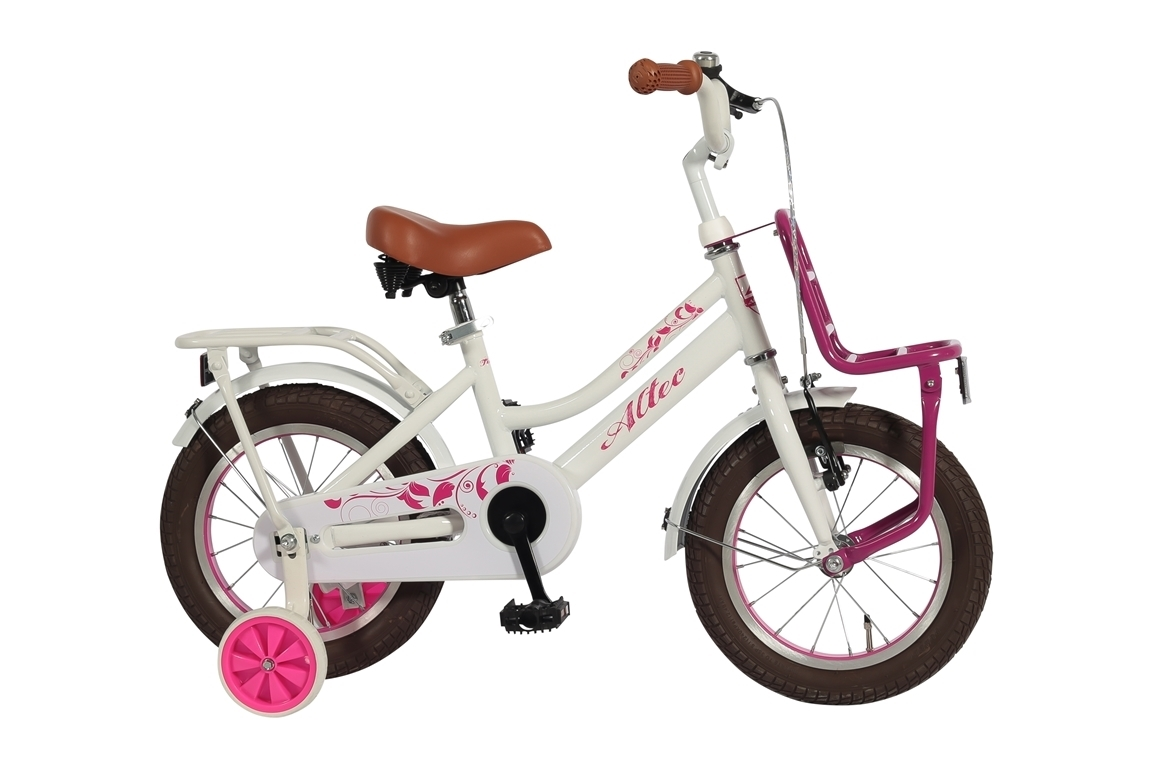 Altec Tuana 14 inch meisjesfiets – wit/roze