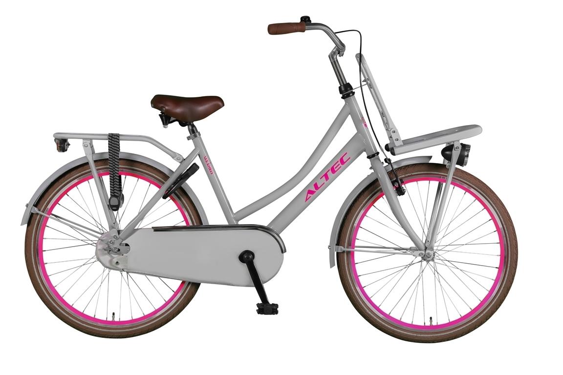 Altec Urban 24 inch meisjesfiets – Grijs/Roze