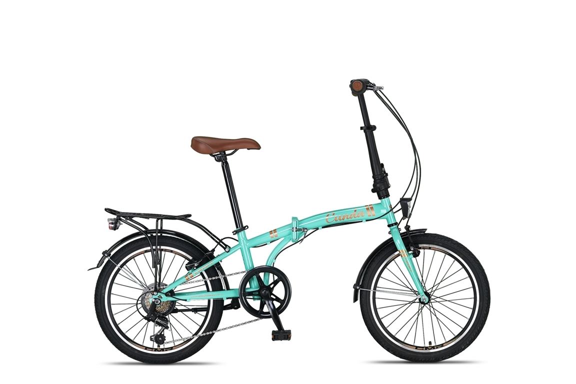 Umit Cunda vouwfiets 20 inch 6-speed turquoise