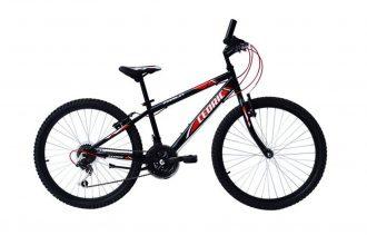 Cedric Mountainbike 18 Versnellingen 24 Inch – Mat Zwart