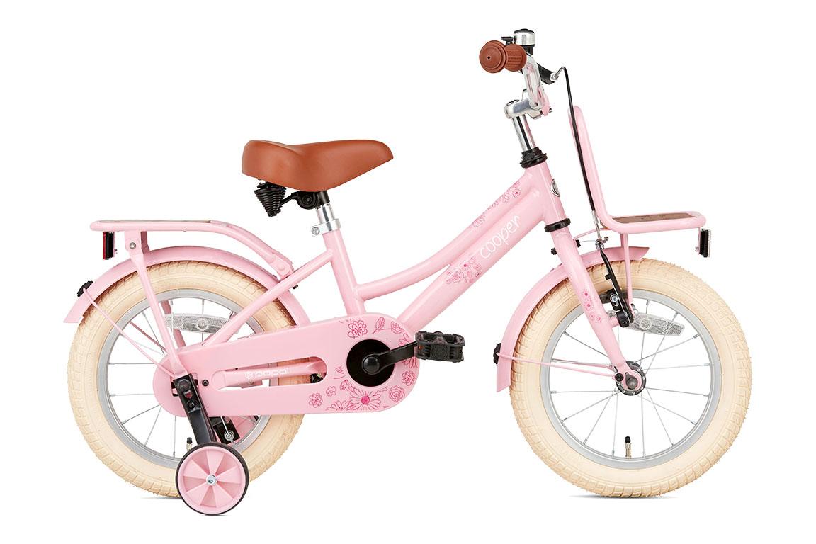 Cooper Bamboo 14 inch meisjesfiets in doos verpakking – roze