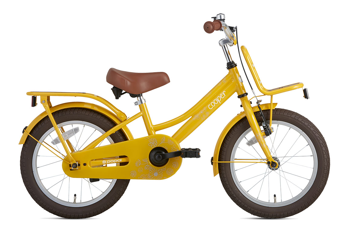 Cooper Bamboo 18 inch meisjesfiets in doos verpakking – geel