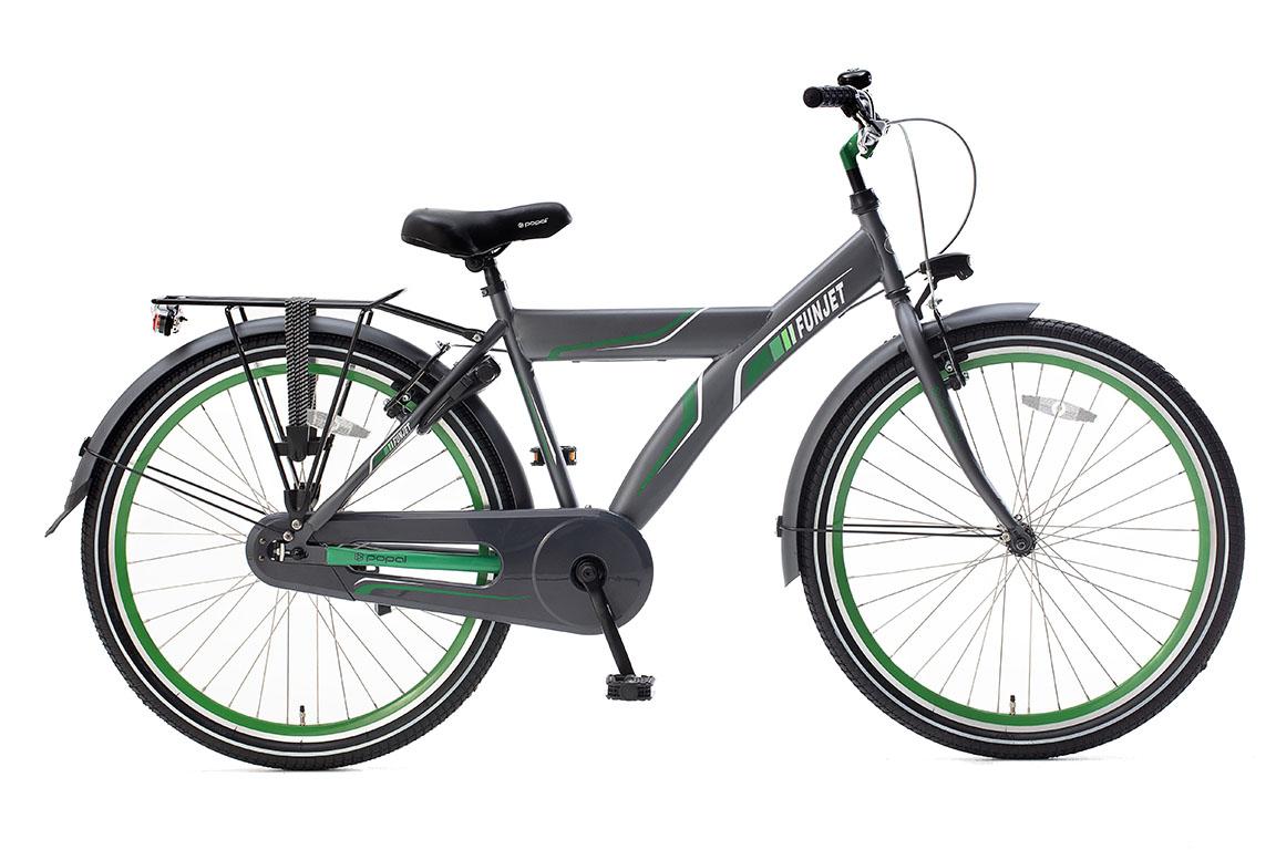 Popal Funjet X 26 inch jongensfiets in doos verpakking – grijs/groen