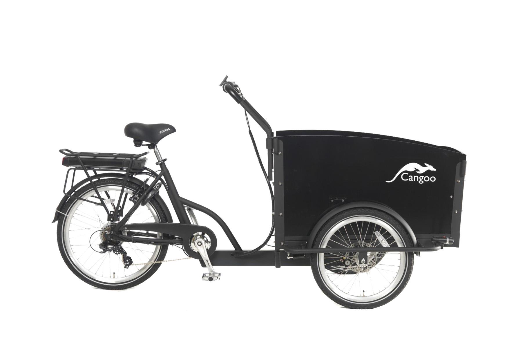 Cangoo Groovy-E elektrische bakfiets – Zwart
