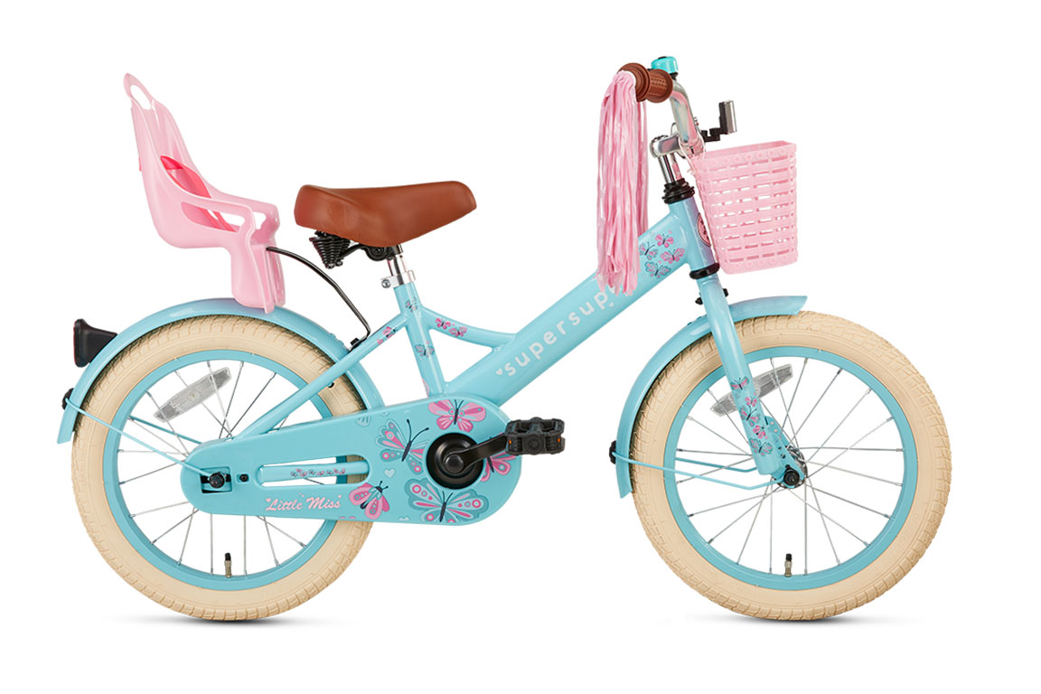 Little Miss 16 inch meisjesfiets in doos verpakking – mint