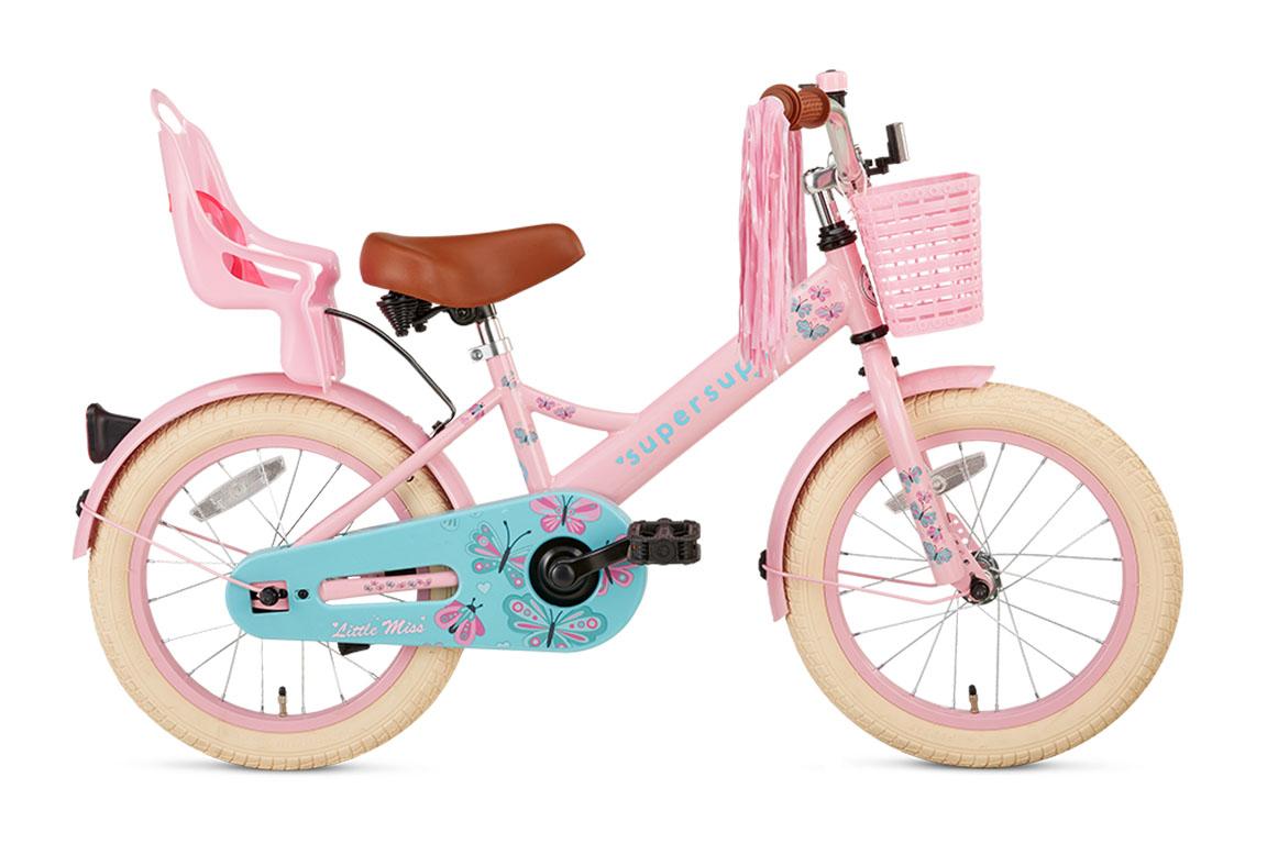 Little Miss 16 inch meisjesfiets in doos verpakking – roze