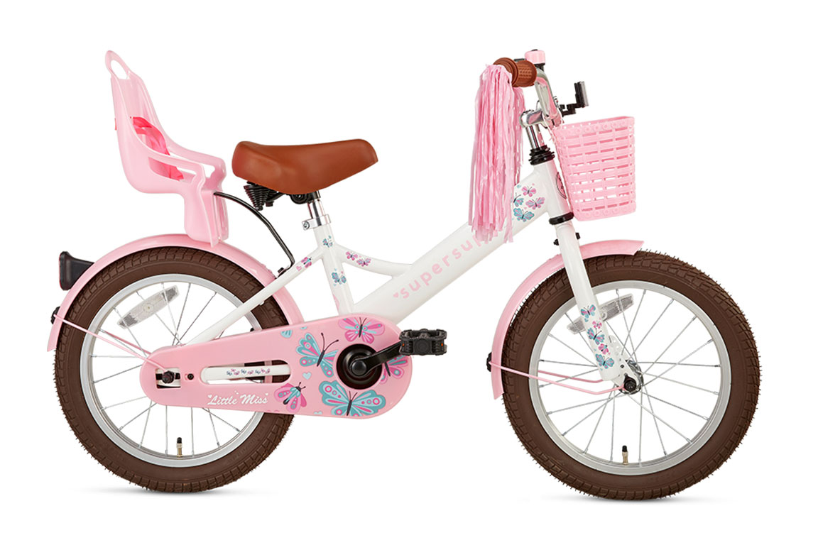 Little Miss 16 inch meisjesfiets in doos verpakking – wit
