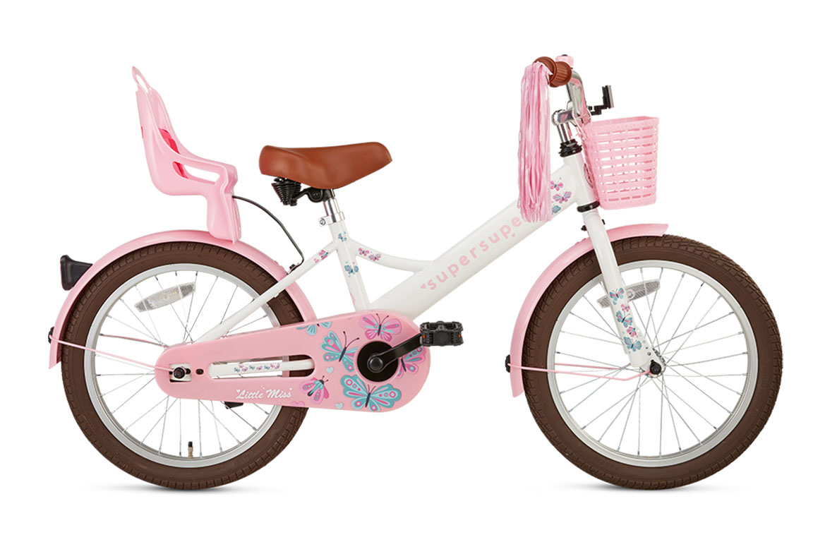 Little Miss 18 inch meisjesfiets in doos verpakking – Wit