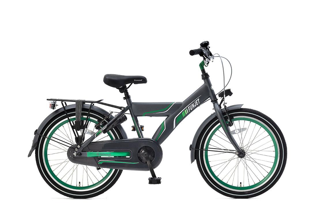 Popal Funjet 20 inch jongensfiets in doos verpakking – groen/grijs