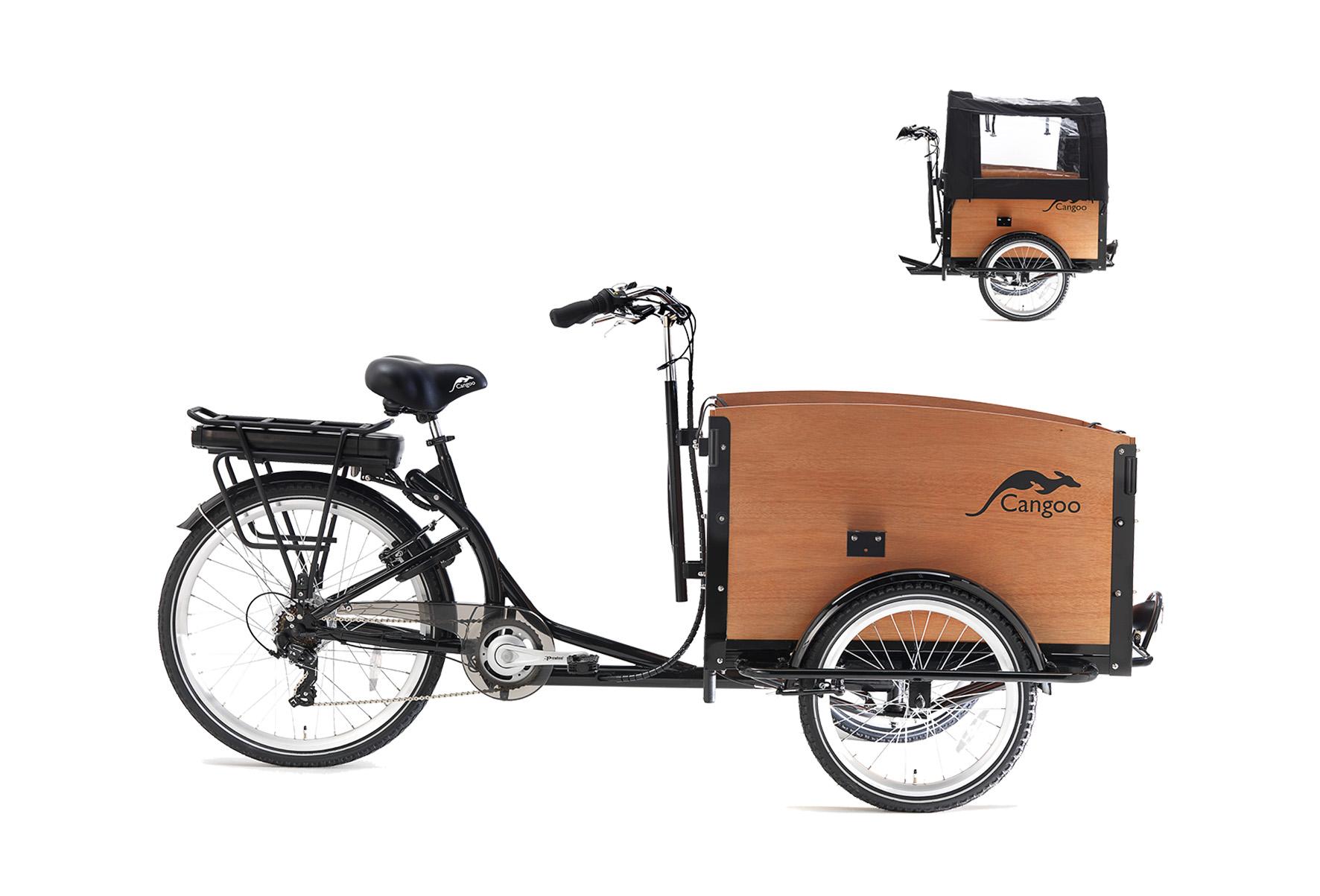 Cangoo Tour elektrische bakfiets – Zwart