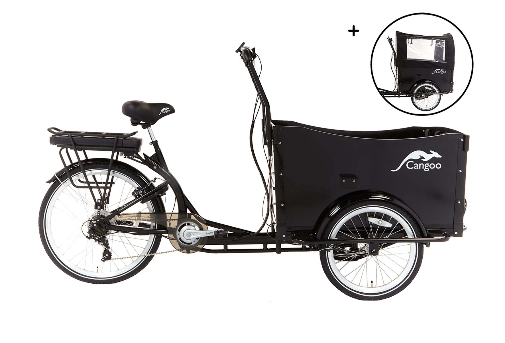 Cangoo Travel elektrische bakfiets – Zwart